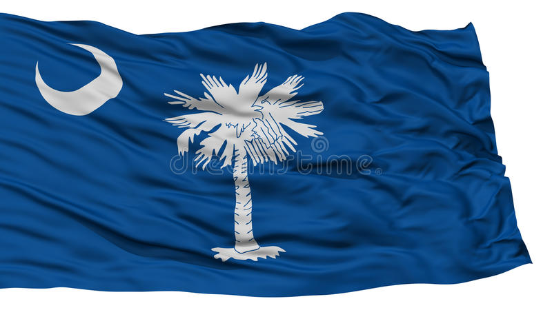 Carolina Flag del sur aislada, estado de los E.E.U.U. libre illustration