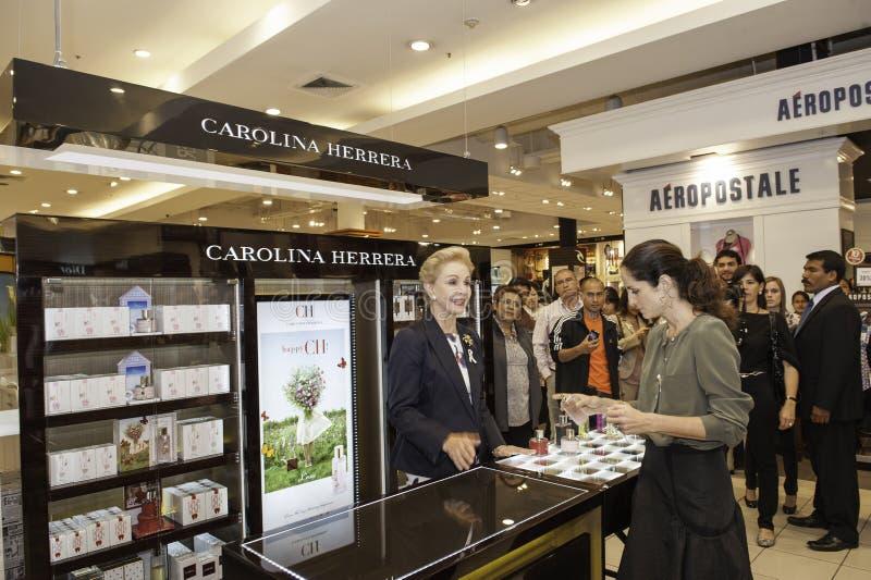 Carolina Herrera die Peru bezoeken royalty-vrije stock afbeelding