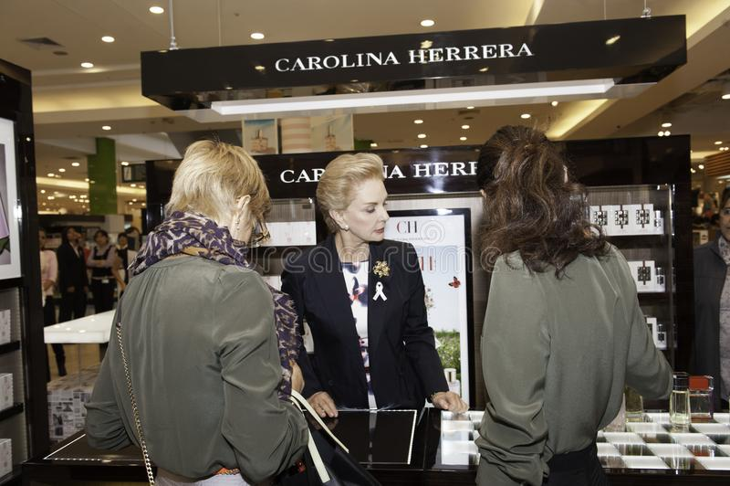Carolina Herrera die Peru bezoeken royalty-vrije stock foto's