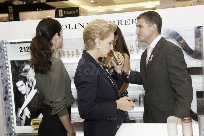 Carolina Herrera die Peru bezoeken stock fotografie