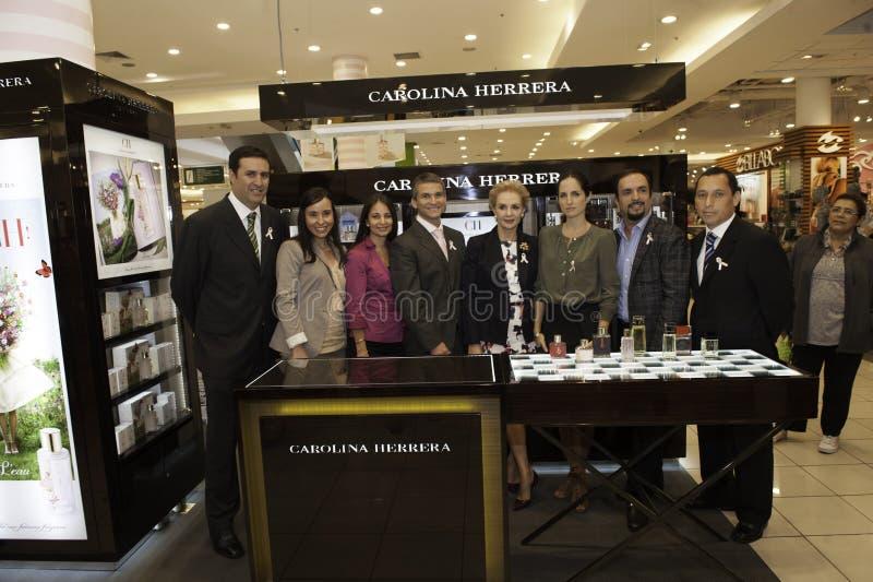 Carolina Herrera die Peru bezoeken stock foto's