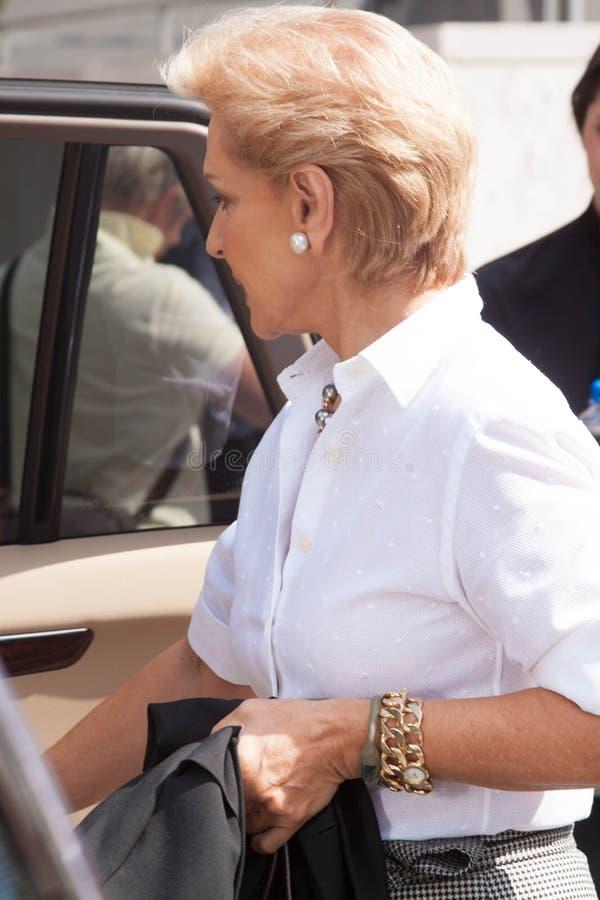 Carolina Herrera na haar modeshow royalty-vrije stock foto