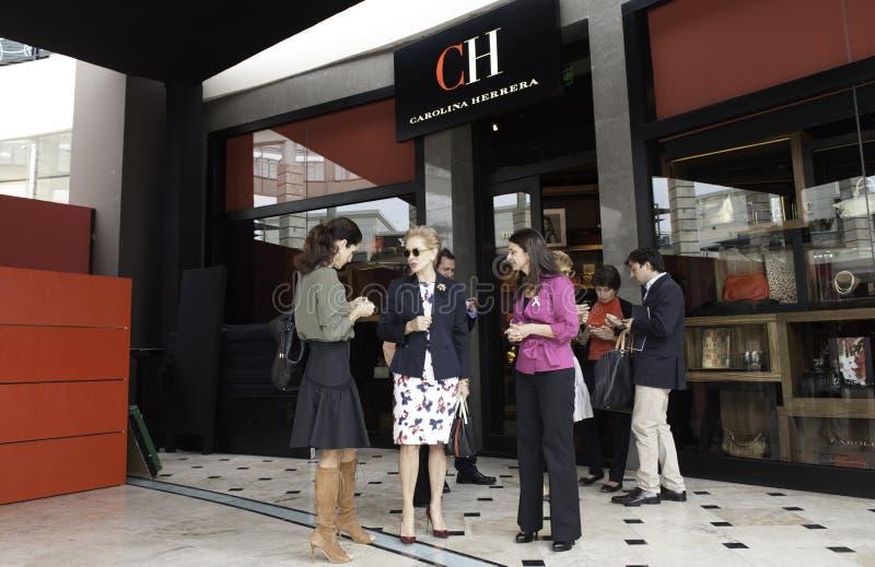 Carolina Herrera som besöker Peru royaltyfri fotografi