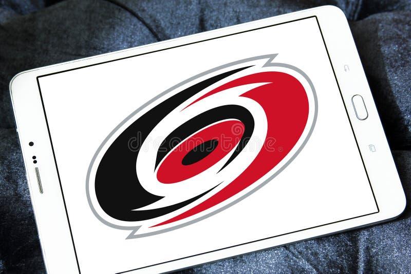 Carolina Hurricanes zamraża drużyna hokejowa klubu loga ilustracji