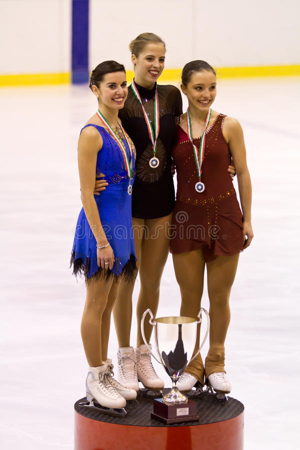 Carolina Kostner fotografia stock