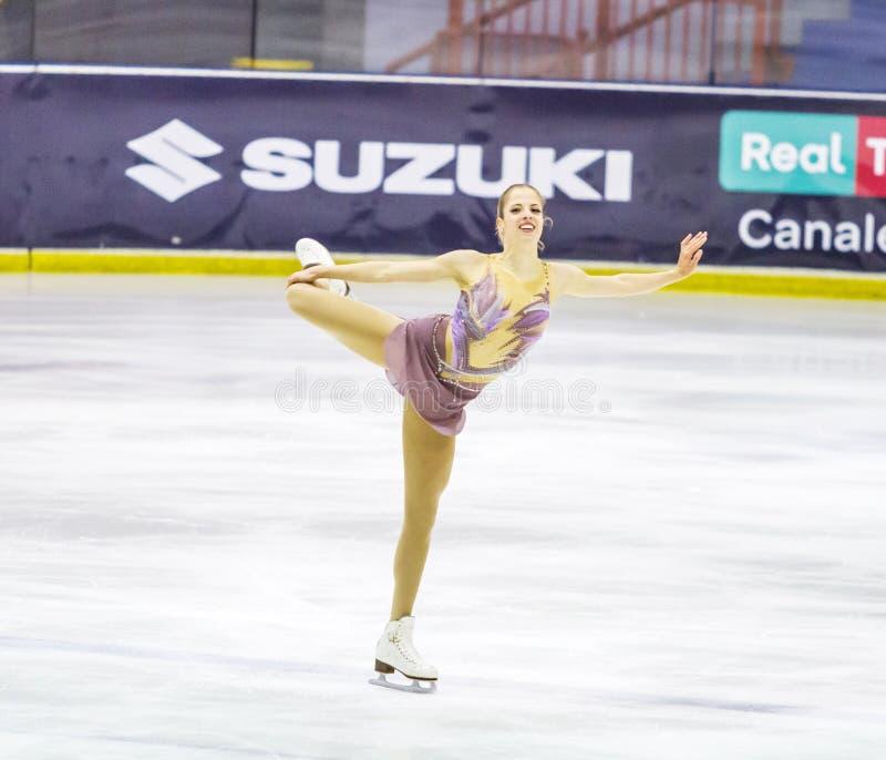 Carolina Kostner durante el Championshiper italiano, fotografía de archivo