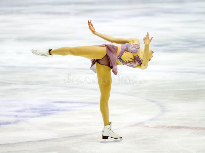 Carolina Kostner durante el Championshiper italiano, fotos de archivo libres de regalías