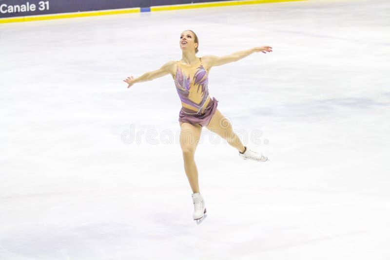 Carolina Kostner durante el Championshiper italiano, imagenes de archivo