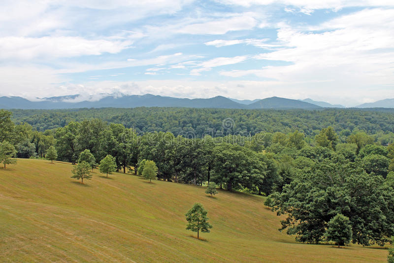 Carolina Landscape View del nord immagini stock libere da diritti