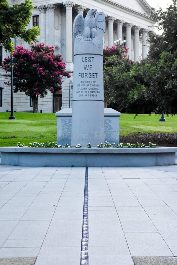 Carolina Law Enforcement Officers Memorial del sud in Colombia, Sc fotografia stock