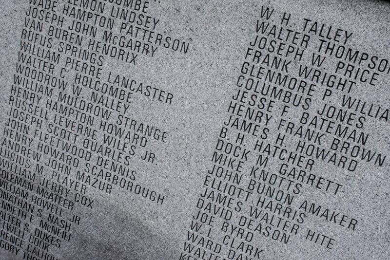 Carolina Law Enforcement Officers Memorial del sur en Columbia, SC imagen de archivo libre de regalías