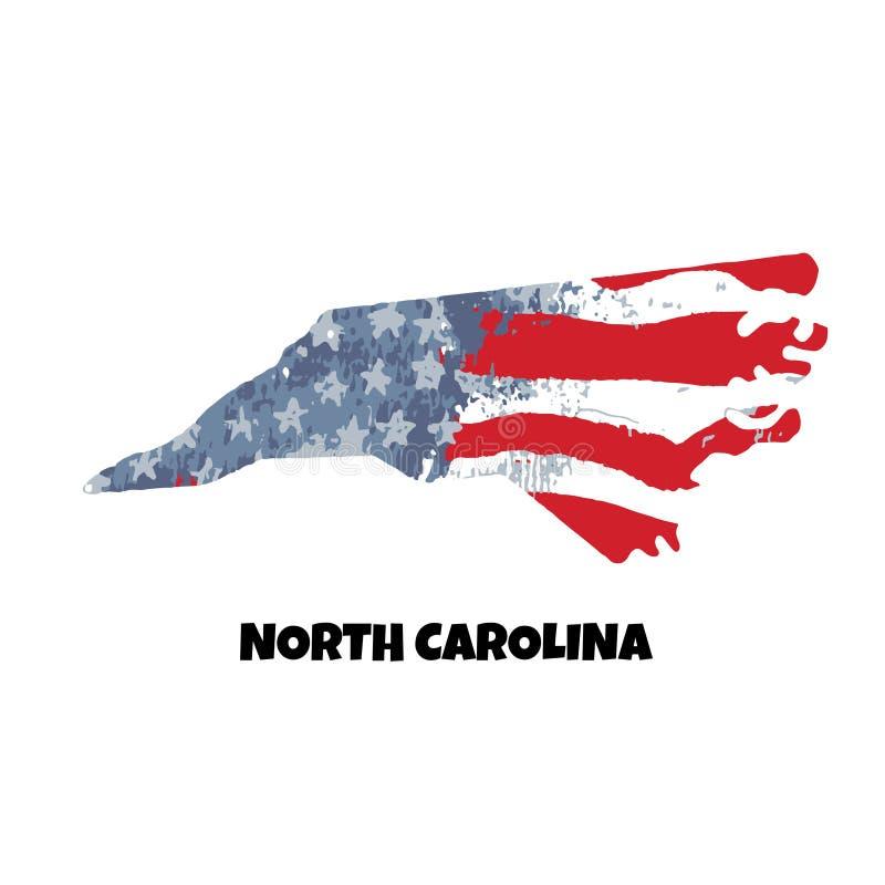 carolina norr tillstånd Amerika tillstånd förenade Vektor Illust stock illustrationer