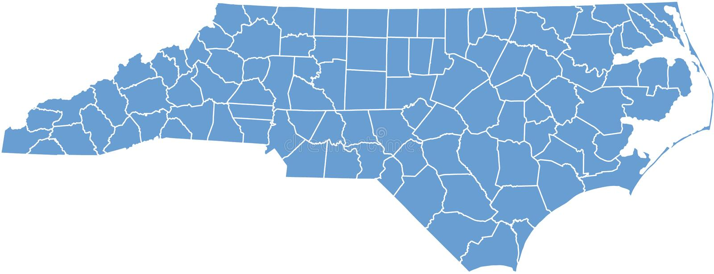 carolina okręg administracyjny mapy północ royalty ilustracja