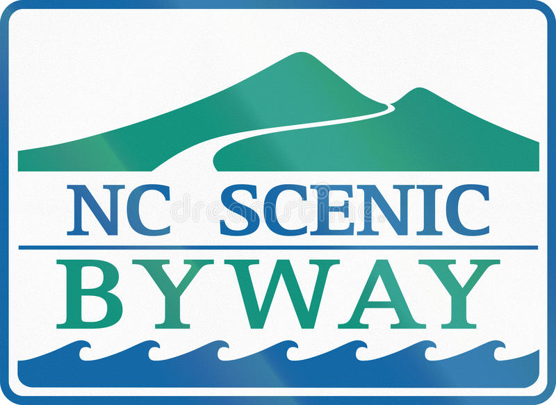 Carolina Scenic Byway norte ilustração royalty free