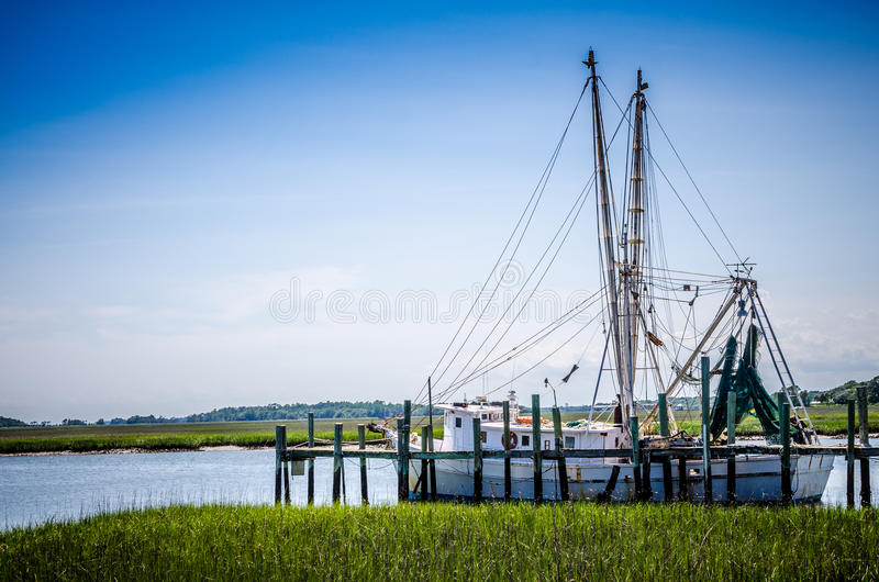 Carolina Shrimp Trawler stock photo
