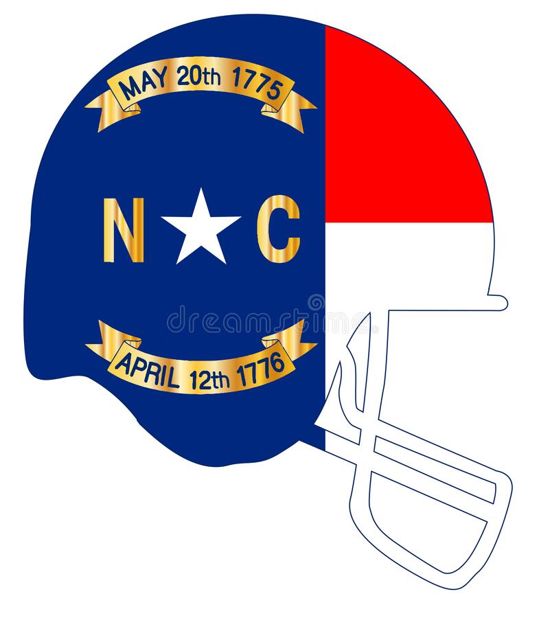 Carolina State Flag Football Helmet du nord illustration libre de droits