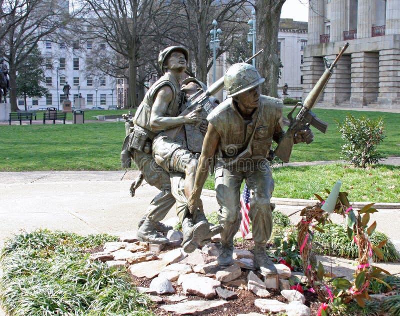 Carolina Vietnam War Memorial norte fotos de stock