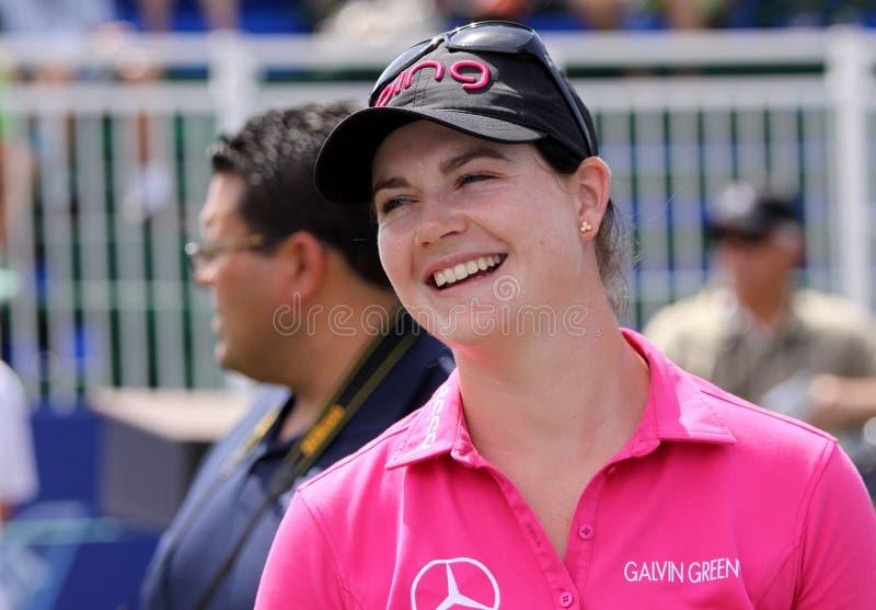 Caroline Masson bij de het golftoernooien 2015 van de ANAinspiratie stock afbeelding