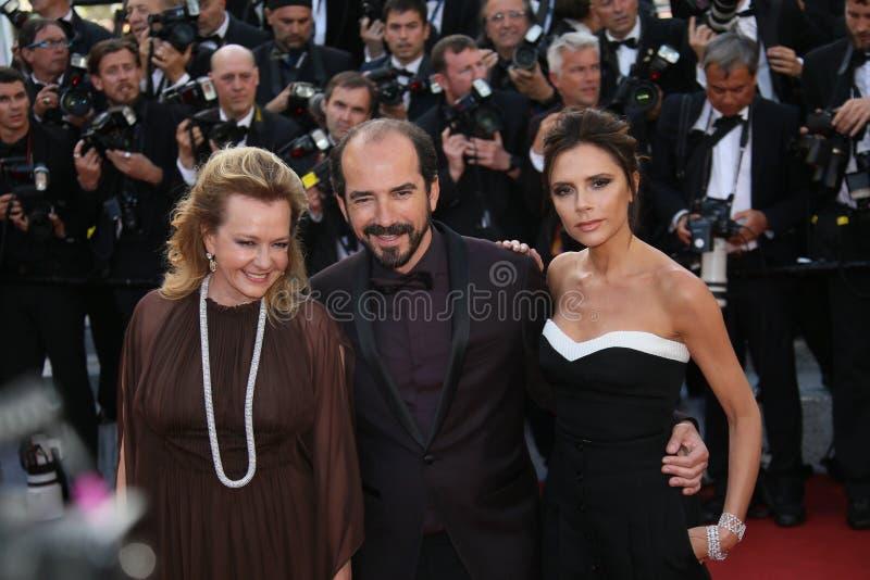 Caroline Scheufele and Alexis Veller stock photo
