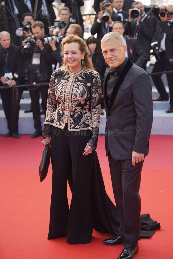 Caroline Scheufele i Christoph walc zdjęcie royalty free