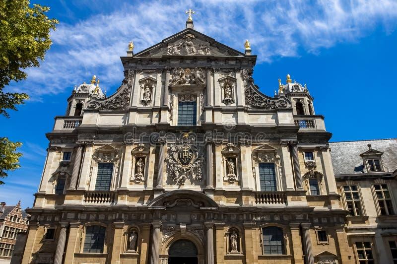 Carolus Borromeus kościół w Antwerp, Belgia zdjęcie royalty free