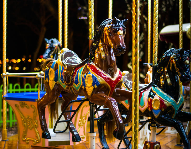 Carosello del cavallo fotografie stock libere da diritti