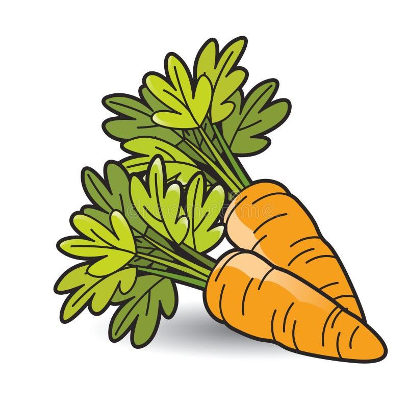 Carota arancio di colore due su ombra liscia royalty illustrazione gratis
