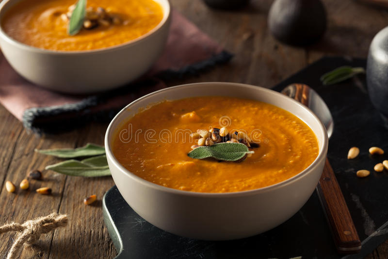 Carotte faite maison Ginger Soup photographie stock libre de droits