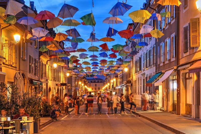 Carouge, Genebra, Suíça foto de stock