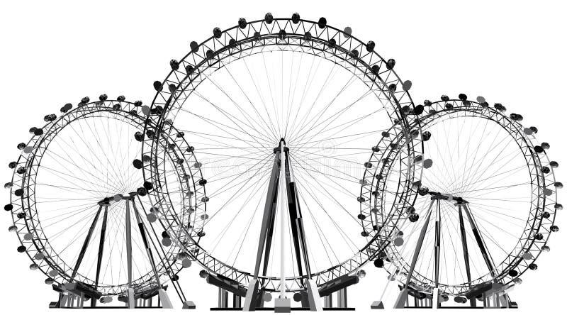 Carousel Śródpolny wektor ilustracji