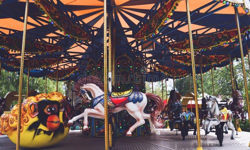 Carousel в парке Gagarin в Новокузнецке стоковая фотография rf