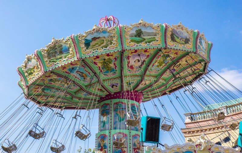 Carousel в парке Prater в вене стоковые изображения rf