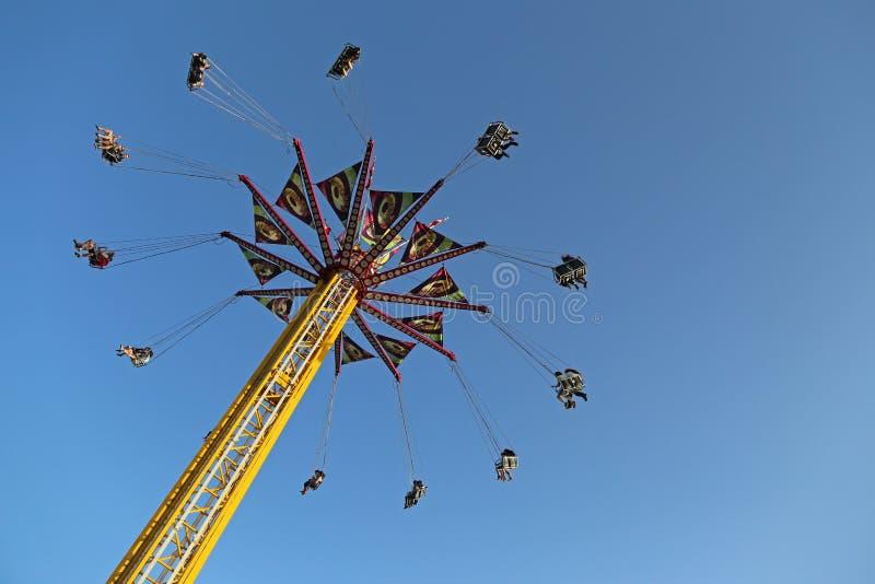 Carousel летая качания стоковые фото