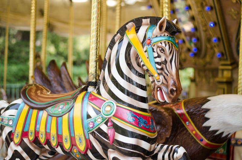 Carousel зебры стоковые изображения