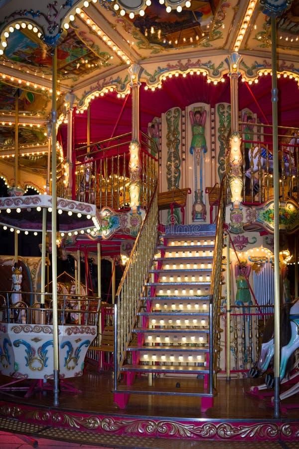 Carousel на рождестве справедливом Каркассон Франция стоковое изображение