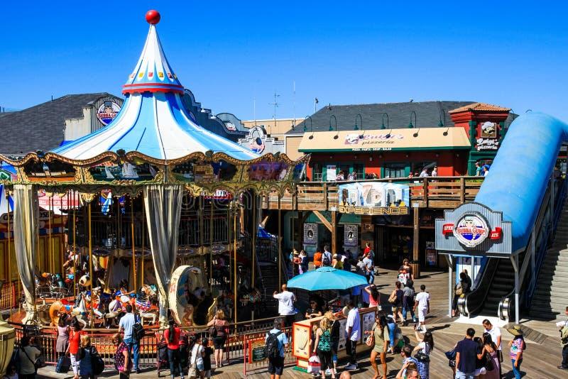 Carousel пристани 39 Сан-Франциско стоковое изображение