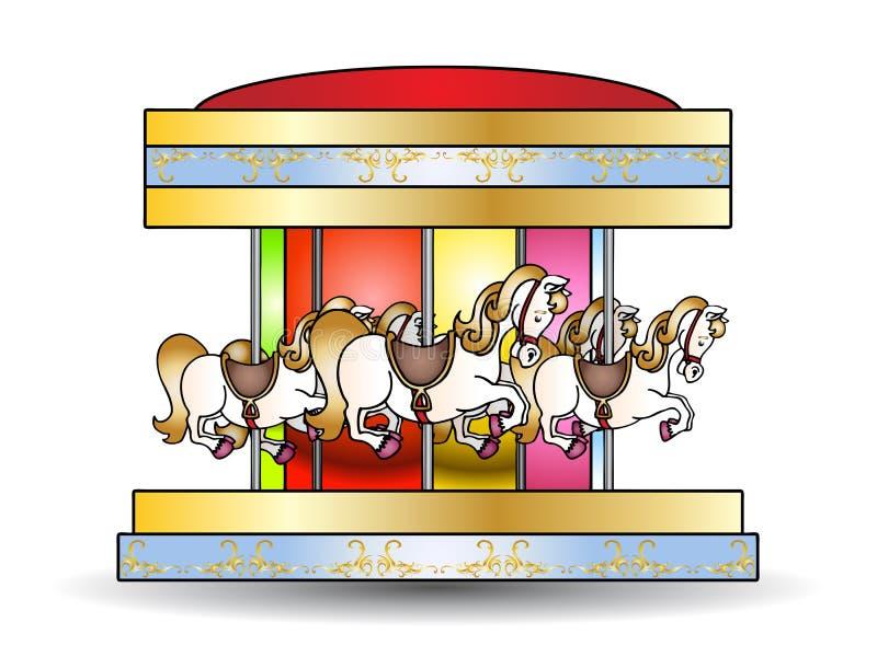Carousel royalty free illustration