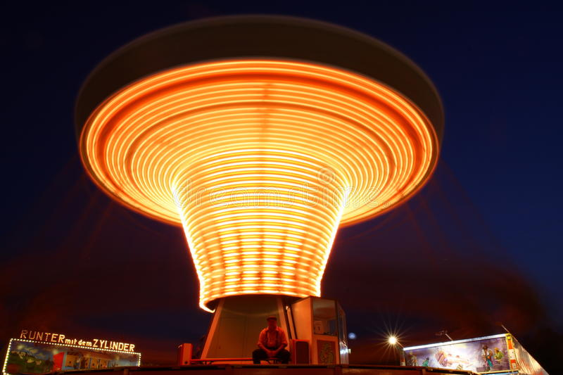 Download Carousel editorial photo. Image of light, night, wiesn - 21456421