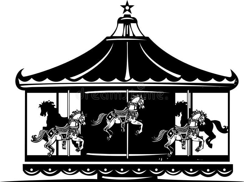 Carousel royalty ilustracja