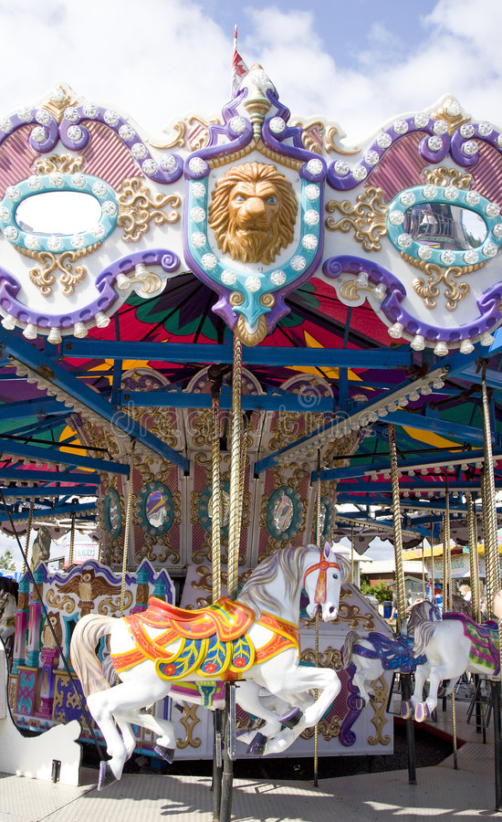 Download Carousel stock photo. Image of amusement, outdoors, park - 6230360