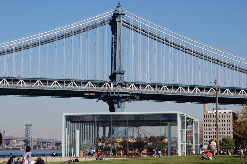 Carousel At Brooklyn Bridge In New York City Editorial Photo