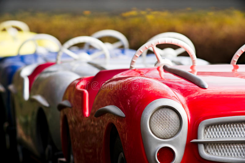 Carousel with cars royalty free stock image