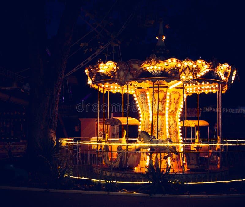 Carousel, Dark, Evening Free Public Domain Cc0 Image