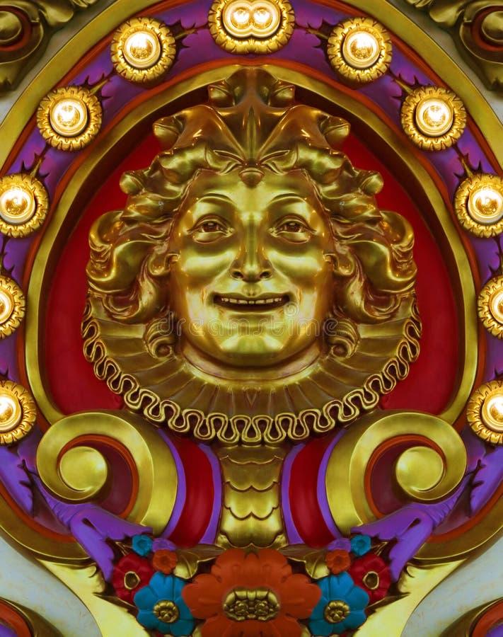 carousel design golden στοκ εικόνα