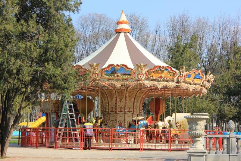 Carousel dla dzieci fotografia stock