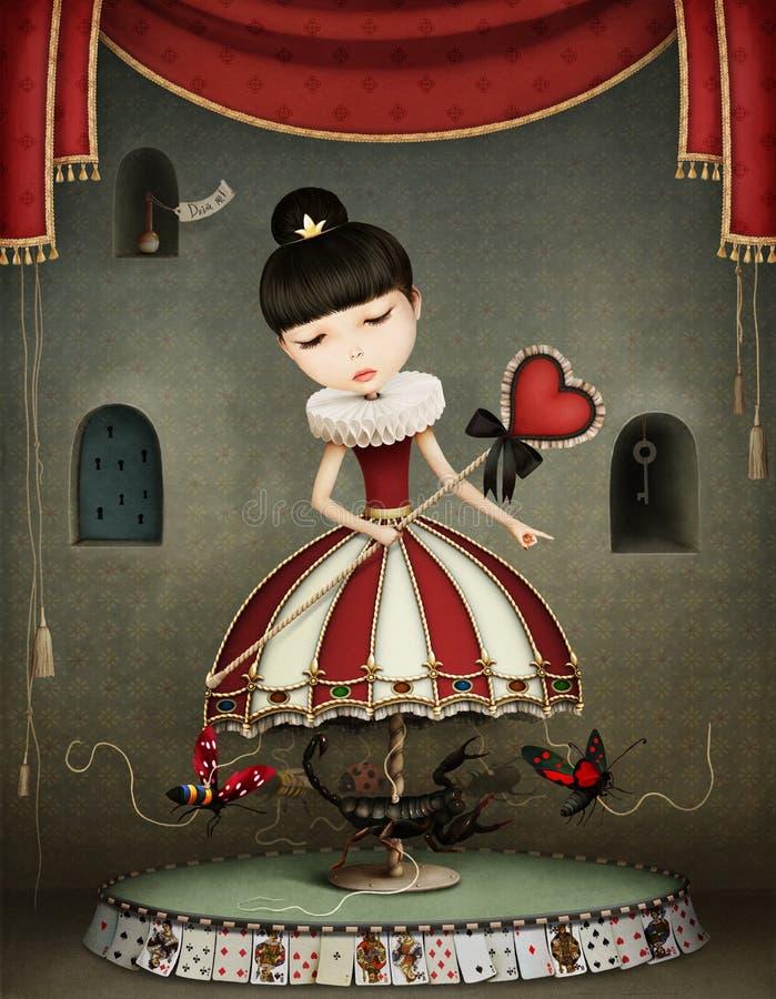 Carousel dziewczyna ilustracja wektor