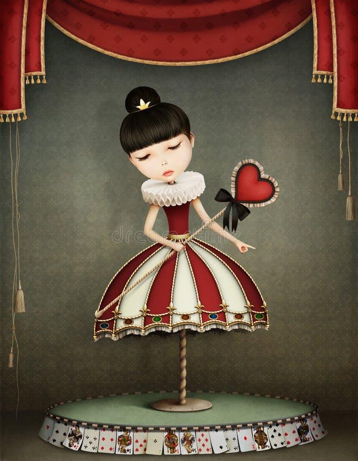 Carousel dziewczyna ilustracji
