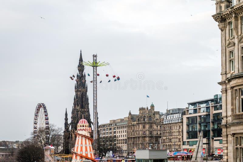 Carousel in Edinburgh, Scotland, UK royalty free stock image