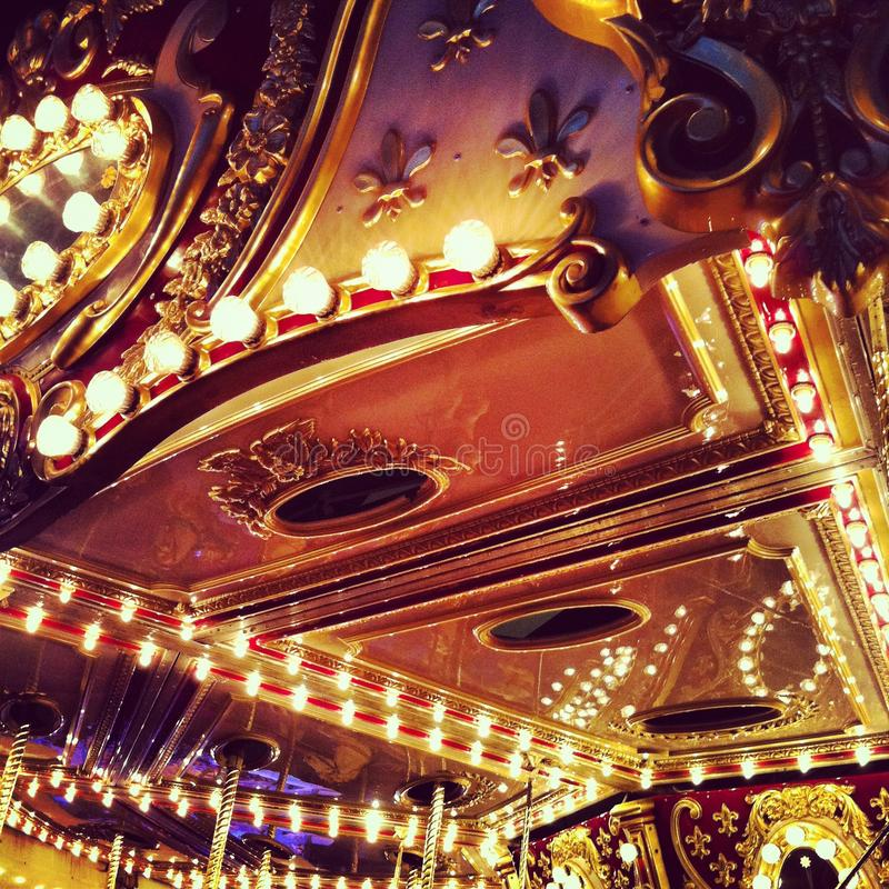 Carousel at the Funfair stock photography