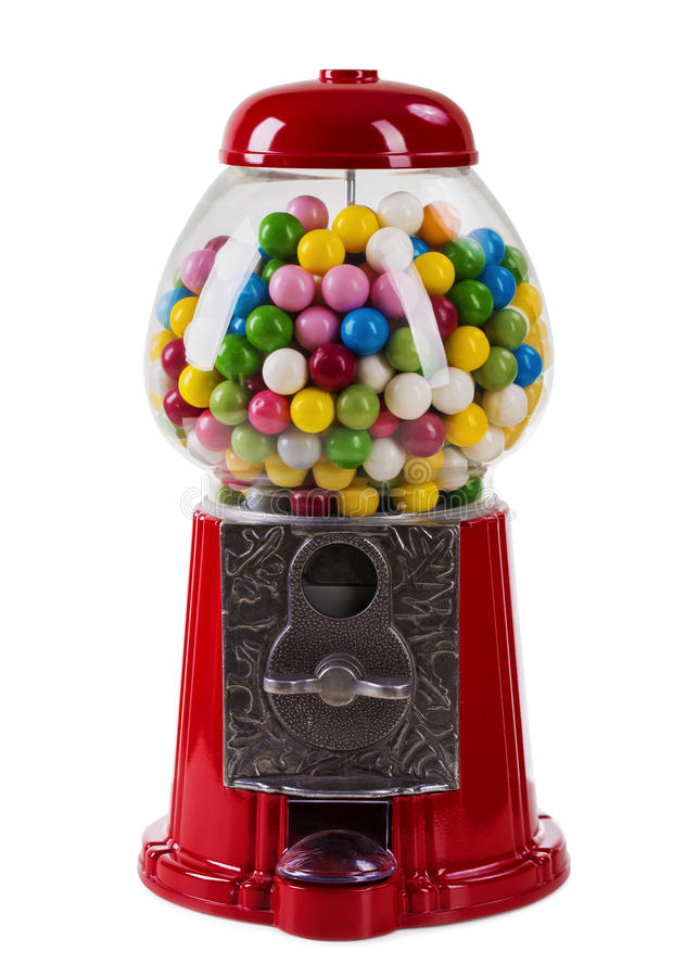 Carousel Gumball Machine Bank. Isolated on a white background stock image